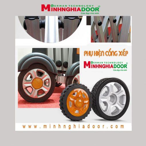 bánh xe cổng xếp minhnghiadoor
