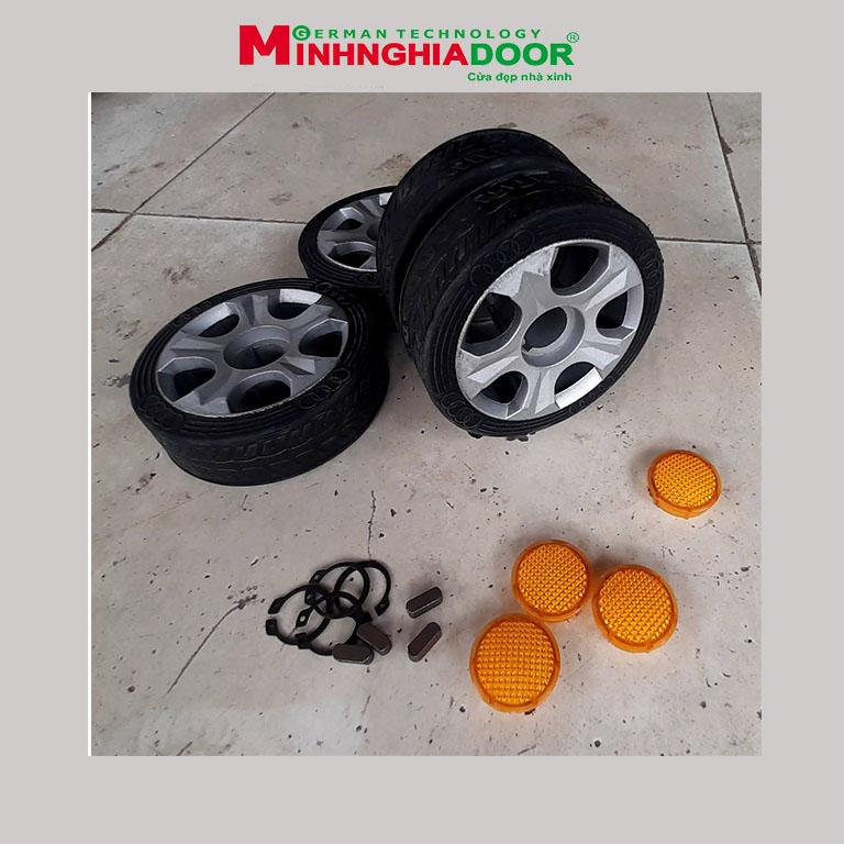 bánh xe cửa cổng xếp